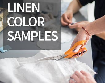 Linen color samples - swatches