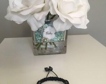 Shamballa Purple Czech Crystal Bracelet