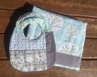Handmade Baby Quilt --Windy Day