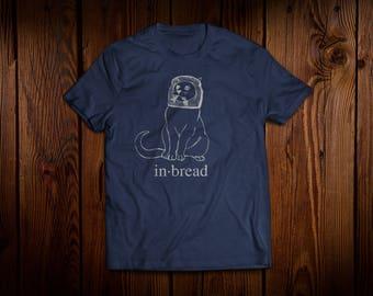InBread Cat - navy men's crew neck