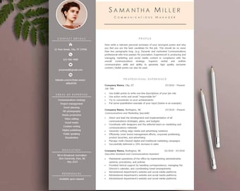 Cv template etsy resume template cv template instant download ms word yelopaper Choice Image