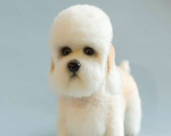 Dandie Dinmont Terrier, needle felted - made to order