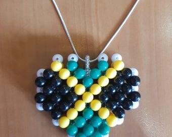 Jamaican Heart Necklace
