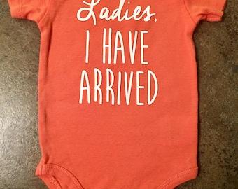 Ladies onesie, personalized baby onesie, baby bodysuit,  custom onesie