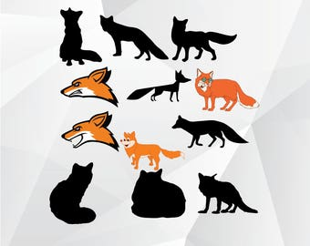 Fox svg,png,jpg/Fox clipart for Print,Design,Silhouette,Cricut and any more