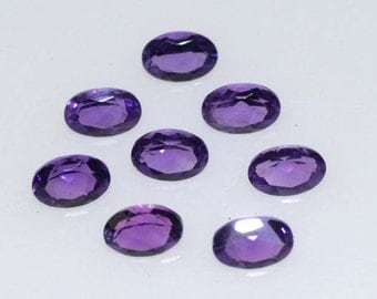 3x5 mm Natural oval amethyst faceted AAA quality-high quality gemstones