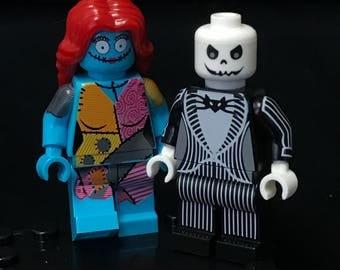 Jack & Sally Minifigure Set Custom Minifigures The Nightmare Before Christmas