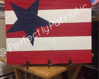 Patriotic Key Hanger