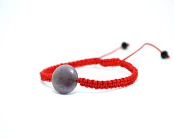 Red String bracelet KABBALAH bracelet Amethyst bracelet Purple gemstone Gemstone bracelet Women bracelet Friendship bracelet Ideal gift