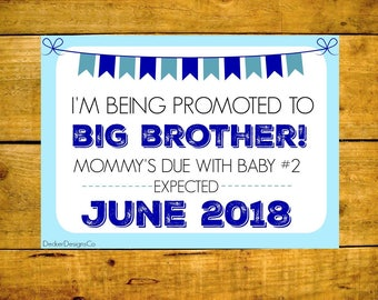 Pregnancy Announcement, Baby Reveal, Big Brother Reveal, Pregnancy Reveal, Printable Pregnancy, Second Baby, Big Brother Poster