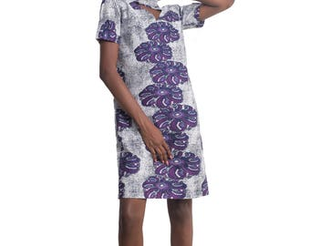 Ohemaa Ankara African Print Dress African Clothing Nigerian Clothing African Prints for Women - Ohemaa A-Line Choker Dress