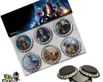 Guardians of the Galaxy Magnets   Bottle Cap Magnets   Party Favors   Gift