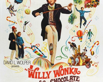 Willy Wonka and the chocolate factory mini movie poster