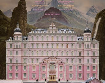 The Grand Budapest Hotel movie poster A4 size