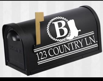 Cowboy boot Mailbox Monogram Svg, Mailbox Monogram Frame Svg, Mail Box Decal, Svg, Eps, Dxf, SVG files for Cricut & Silhouette