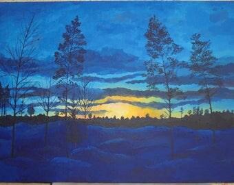 sunset in Siberia