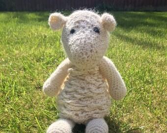 Crochet Sheep handmade with 100% alpaca yarn