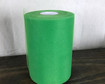 Emerald Tulle - 6 x 100 Tulle Roll - 6 inches 100 yards - Emerald Wedding - Green Tulle - Tulle Fabric - Decorating Supplies - Tutu Supplies