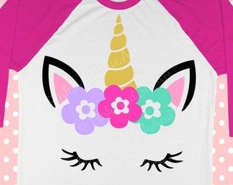 Unicorn svg - Unicorn face svg - School svg - Unicorn birthday - Magical svg - Little girl svg - Svg for girls - Baby SVG , dxf,png,pdf,eps,