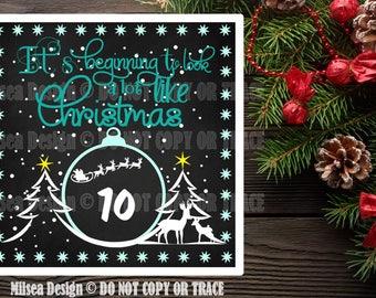 Christmas Chalkboard, Christmas svg, Christmas Countdown, Cut File, SVG, DXF, Cricut cut file, Vinyl Cut Files, Silhouette, Christmas, Santa
