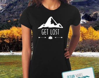 Get Lost t-shirt, adventure, outdoor, camping, hiking