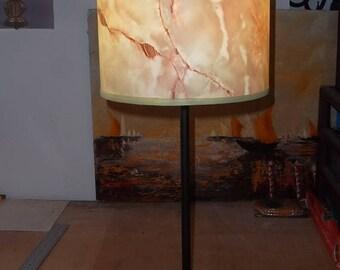 vintage, vintage marble veined green Lampshade lamp shade Lampshade