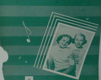Bermuda, sheet music by Cynthia Strother, 1951, Recorded by the Bell Sisters, Vintage