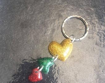 rasta jah selassi glitter heart