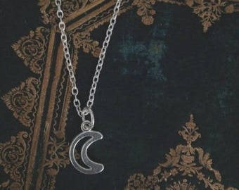 Simple Necklace with Moonlight Pendant