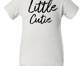 Little Cutie Onesie: Infant New Born Romper- White