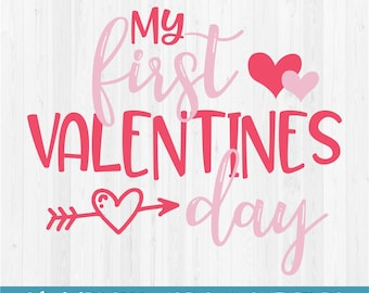 my first valentines day svg cut file - First Valentines Day
