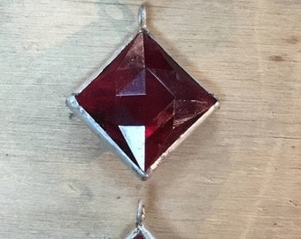 Red chandelier crystal pendant