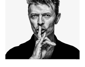 Exclusive David Bowie Exhibition Poster #1. The only genuine reproduction of this iconic image available online from The Institute. Berlin