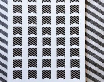 Striped Mini Flags