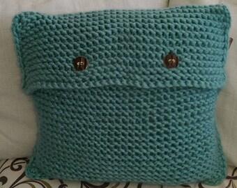 Crocheted cushion - Handmade wool
