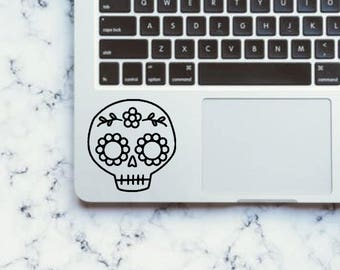 Sugar skull decal Vinyl Laptop Decal Sticker | Love | Cute | Day of the Dead