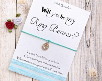 Gift for Ring Bearer. Will you be my ring bearer? Wish Bracelet, Ring Bearer Gift, Wedding Gifts, Bridesmaid Gift, Gift for Bridesmaid.