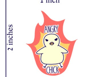 Angry Chick Sticker