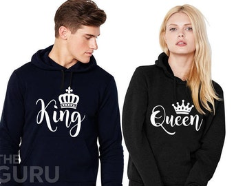 King and queen hoodie couples hoodies king and queen hoodies king and queen sweaters king and queen sweatshirt king and queen couple hoodies