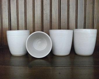 Handmade Rustic White Ceramic Tumbler, Ceramic Tumbler