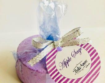 Apple Sage Bath Bomb, Glitter Bath Bomb, Stocking Stuffer, Birthday Gift, Bath Bombs, Gift for Her, Gift for Girlfriend, Gift for Mom