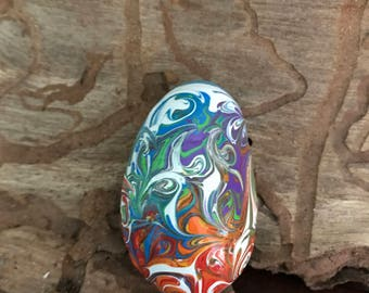 Hand Painted Stone, Hand Painted Rock, Meditation Stone, Chakra Colors, Rainbow Colors, One of a Kind, Energy Art