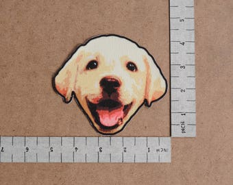 Labrador Puppy  Iron-On Printed Patch