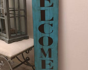 Welcome Fence Sign