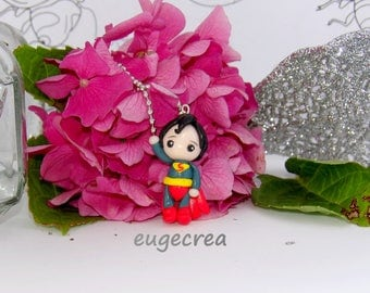 Superman necklace in Fimo