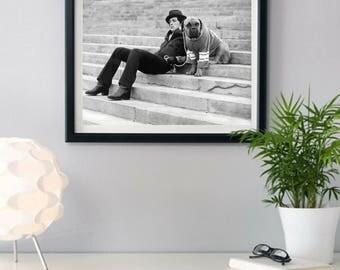 Rocky Balboa, English bulldog,Philadelphia steps rocky, Rocky Steps