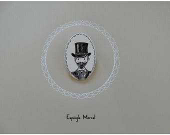 Brooch - Brooch made of porcelain - Mr. Maurice.