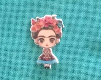 Frida Kahlo Flat Resin Needle Minder