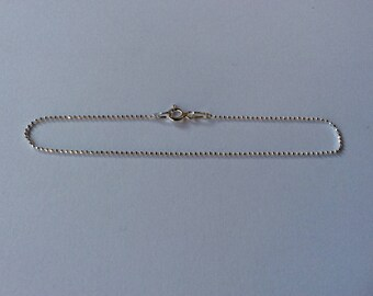 Bracelet ball 1 mm 925 sterling silver 19 cm