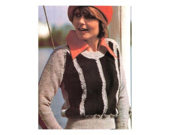 Knit & Leather Sweater Pattern